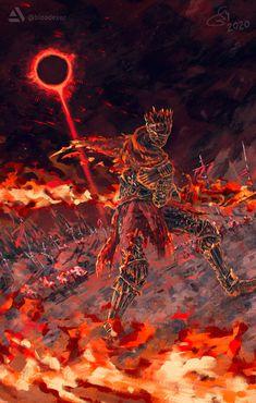 Red Knight, Knight Art, Dark Knight, Video Game Drawings, Arte Dark Souls, Hyrule Warriors, Shadow The Hedgehog, Dc Comics Art, Soul Art