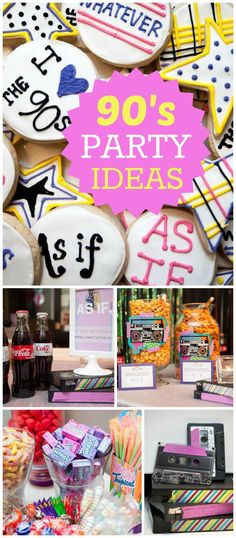 Head back to the 90's with this retro party! See more party planning ideas at CatchMyParty.com!