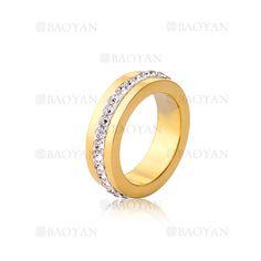 anillo con cristal de moda de dorado en acero para mujer-SSRGG802011