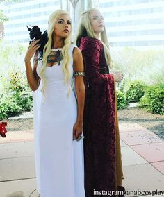 Game of Thrones White Daenerys Dragon Dress With Cape