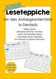 Reading carpets - learning to read made easy! - German elementary school class 1 - Hilarie's World Language Quotes, Language Study, Essay Outline Template, French For Beginners, Spanish Lesson Plans, German Words, Learn Chinese, French Lessons, Teaching Spanish
