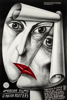 American Films in Polish Posters Amerykanskie filmy w polskim plakacie Zebrowski Leszek Polish Poster