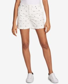 """TOMMY HILFIGER POPPY-PRINT 5"""" SHORTS, CREATED FOR MACY'S. #tommyhilfiger #cloth #"""