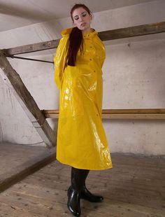 Hundreds of new looks updated every day! Vinyl Raincoat, Plastic Raincoat, Yellow Raincoat, Hooded Raincoat, Imper Pvc, Country Wear, Rain Suit, Langer Mantel, Rain