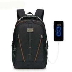 5c554698b99b Backpack Men Large Capacity Multifunction Teenager Waterproof Oxford Travel  #fashion #clothing #shoes #
