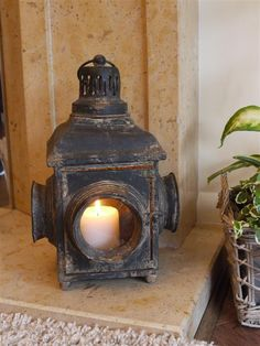Antique French Vintage Style Large Lantern Candle Holder Rustic Home or Garden Rustic Candle Holders, Lantern Candle Holders, Candle Lanterns, Candle Sconces, Large Lanterns, Rustic Lanterns, Rustic Gardens, Best Candles, French Vintage