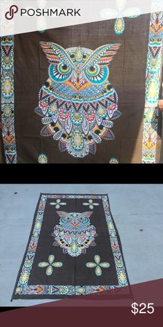 Big Owen wall four spread play area mat kid's gift Make an offer to get good deals! 😃🎊🎁🎉🎄💰  😎Brand new.Handmade with natural dyes.   🤔Uses: bed spread, couch spread, curtains, wallhangings, Celling decor, beach mat, picnic mat, table cloth, 🕉 yoga & 🙏🏻meditation.  📐Size: twin bed)   🎀Material;💯% Cotton  🚿Wash: cold wash  💌➡️Website: http://www.rhyayfashion.com Other