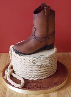 Cowboy boot - Cake by kerrycakesnewcastle Cowboy Boot Cake, Cowboy Cakes, Cowboy Boots, Cowboy Birthday Cakes, Horse Birthday, Just Cakes, Cakes For Men, Cowboy Boot Centerpieces, Anniversaire Cow-boy