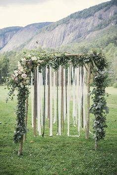 ceremony arch, ceremony backdrop, bohemian backdrop // : Josh Goleman