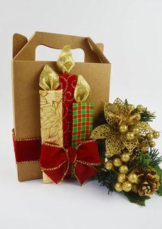 Como fazer uma embalagem para presente com Papéis e Fitas Decorativas