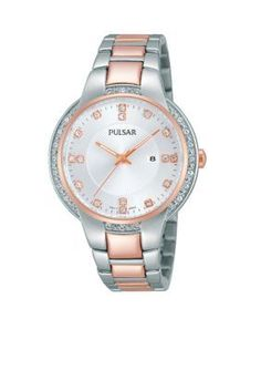 Pulsar Silver Womens Two-Tone Night Out Watch