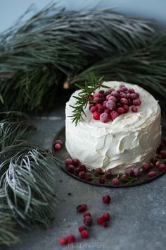 Cranberry White Chocolate Cake