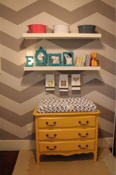 Objetos de decoração para o quarto do bebê