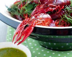 Boiled Crayfish in Nordic Summer Herbs with Wild Garlic Pesto