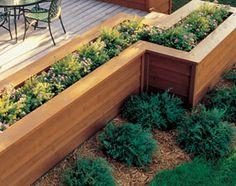 Planter box around deck