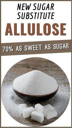 Allulose is a new sugar substitute 70% as sweet as sugar and has 10% of the calories. Why this sweetener becomes so popular see here. Food Tips, Food Hacks, Sugar Substitute, Food Preparation, Popular, Eat, Healthy, Food Stamps, Popular Pins