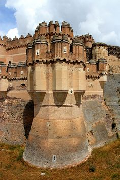 Castillo de Coca, Spain. http://traveloxford.blogspot.com/2014/01/castillo-de-coca-spain.html