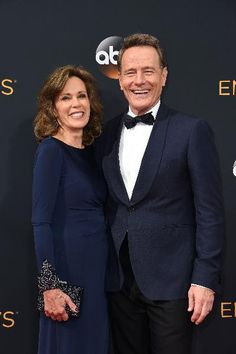 The Breaking Bad actor, Bryan Cranston sported a Burberry tuxedo along side his wife Robin at the 68th Annual Primetime Emmy Awards.
