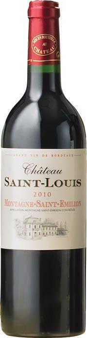 Chateau Saint Louis Montagne St Emilion 2010 - Zagat Wine