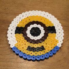 Minion coaster perler beads by yanaiikufumi Hama Coaster, Coasters, Minions, V Instagram, Perler Bead Art, Crafty Kids, Pearler Beads, Bead Crafts, Pixel Art