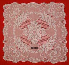 Filet Crochet Pattern Square Doily Tablecloth von NiattaCrochet