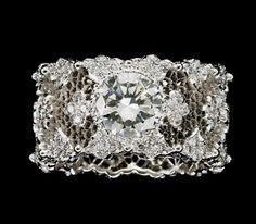Buccellati Diamond Ring - Eternal Jewelry would make a lovely bracelet