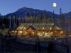 """Talk about a """"wall of windows""""... Million Dollar Log Cabin Home!"""