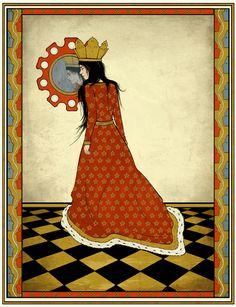 """fairytalemood:  """"Snow White"""" illustrated by Natalia Akimova"""
