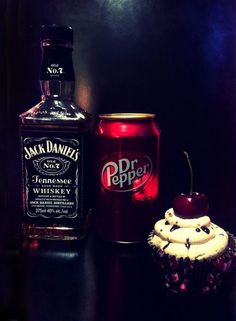 Dr. Pepper and Jack Daniels Cupcakes
