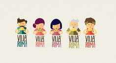 Villa Roma - a pizza brand with serious personality. Designed by Sweety Branding…