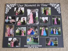 displaying photos on a boards for quinceanera party | Prom Picture Display Board