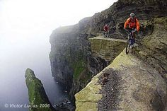 HOLY smokeballs! No chance in hell that i would be even walking that! MTB on the cliffs of Mother, Ireland