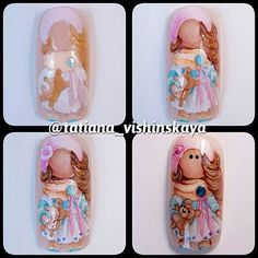 МК Pop Art Nails, Vintage Nails, Easter Nails, Disney Nails, Creative Nails, Nail Tutorials, Beauty Nails, Cute Nails, Hair And Nails