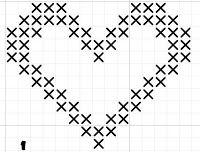 heart free cross stitch pattern
