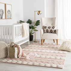 Nikki Chu by Jaipur Living Elixir Handmade Geometric Pink/ Ivory Area Rug - Mumbai collection designed by Nikki Chu provides global and modern spaces with easy versatility and inviting texture. The Elixir area rug features a banded ge Baby Bedroom, Baby Boy Rooms, Baby Room Decor, Girl Nursery Rugs, Baby Room Rugs, Nursery Area Rug, Blush Nursery, Baby Girls, Pink And Grey Nursery Baby Girl