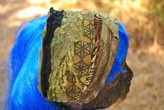 Womens Boho Headband Hippie Hair Wrap Sacred Geometry Dread