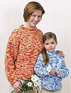 Free+Knitting+Pattern+-+Women's+Sweaters:+Mother/Daughter+Sweaters
