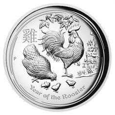 1 Dollar Silber Hahn High Relief PP