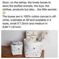 Les jolies petites boîtes de rangements bientôt disponibles !  The lovely boxes soon out !