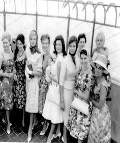 1960: Contestants from the 1960 Miss Universe competition visit the 86th floor Observatory. That year, Linda Bement of Utah became the third Miss USA to win the Miss Universe crown.