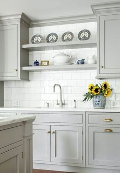 05 incredible farmhouse gray kitchen cabinet design ideas
