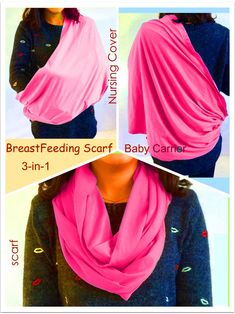 breastfeeding accessories - BayB Brand 3in1 Nursing Cover Up Baby Sling and  Scarf Pink -- d1797f8507d7