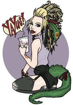 My favorite swamp queen ! @grav3yardgirl
