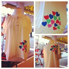 Lauren Moffat Spring 2013 Silk Love Snap Blouse in the shop now! xo