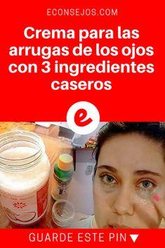 Arrugas de ojos | Crema para las arrugas de los ojos con 3 ingredientes caseros | Casero, natural, eficaz y económico. Sólo 3 ingredientes.