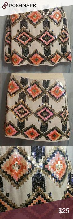 Deal of the Day   Lovemarks MiniSkirt Size S White   Sequin Mini b2cf04dea