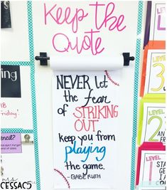 """From """"don't let anyone dull your sparkle"""" to """"your voice matters"""" here are some of the best classroom quotes for motivating & inspiring kids. 4th Grade Classroom, Middle School Classroom, Classroom Posters, Future Classroom, Quotes For The Classroom, Positive Classroom Quotes, Class Quotes, School Quotes, New Quotes"""