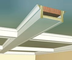 Steal this idea Coffer 4 One of the cleaner a Drop Ceiling Panels, Ceiling Trim, Ceiling Detail, Ceiling Decor, Ceiling Beams, Ceiling Design, Accent Ceiling, Tall Ceilings, Wood Ceilings