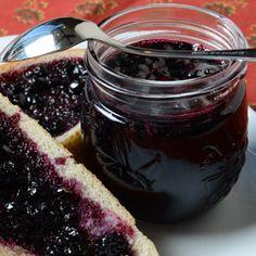 Saskatoon Jam, a recipe from ATCO Blue Flame Kitchen. Jam Recipes, Canning Recipes, Great Recipes, Favorite Recipes, Recipe Ideas, Saskatoon Recipes, Sauces, Jam And Jelly, Liqueur