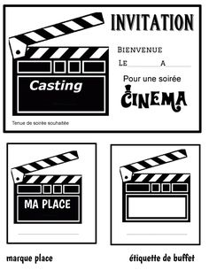 Thème cinéma Movie Theater Party, Cinema Party, Movie Night Party, Family Movie Night, Deco Theme Cinema, Movie Clipart, Invitation Fete, Hollywood Theme, Movie Themes
